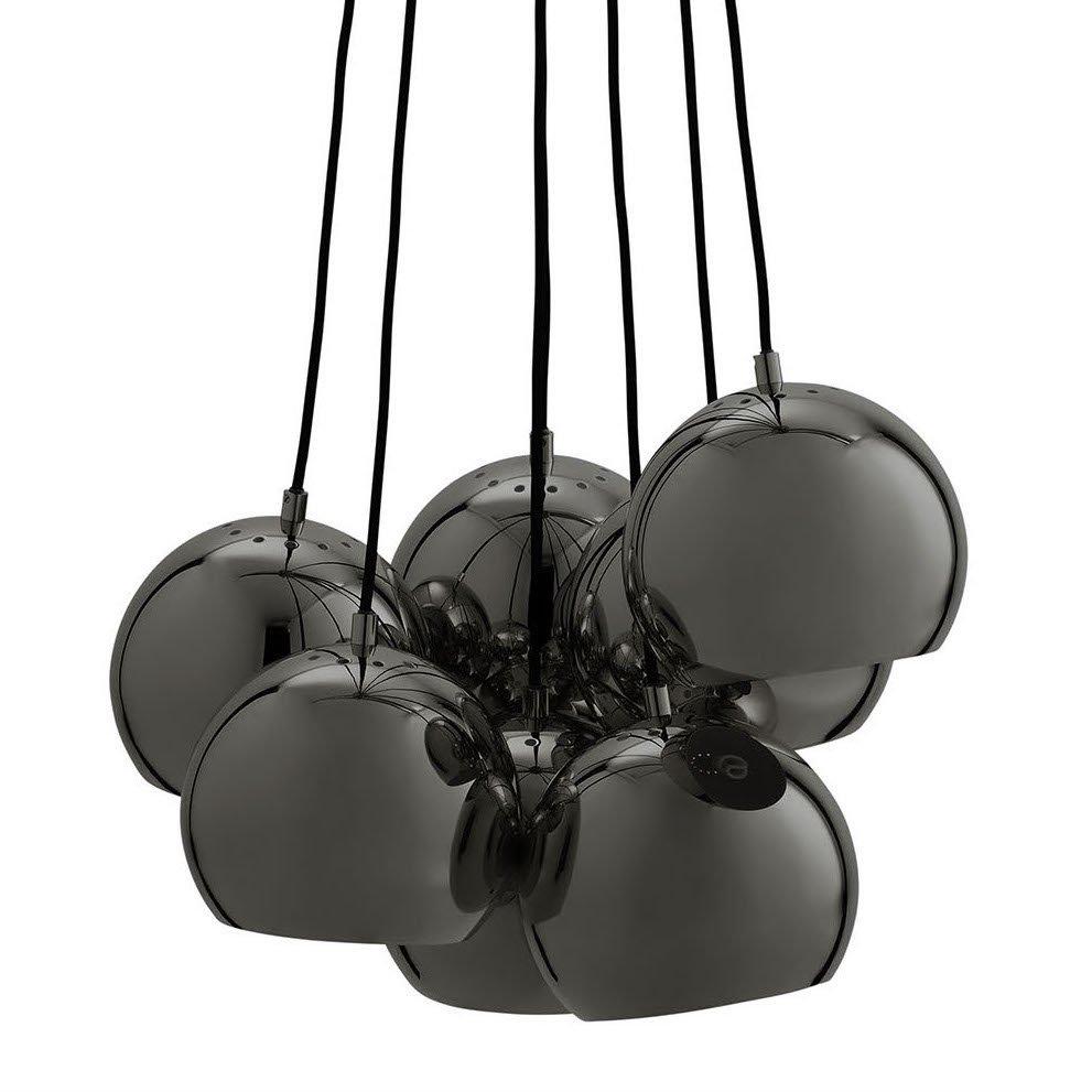 Ball Multi Pendel, Sort Krom Frandsen